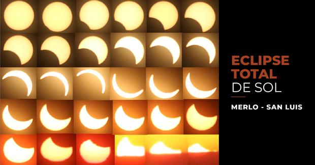 La imagen corresponde al Sol a medida que lo va cubriendo la sombra de la Luna.