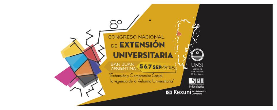 La imagen tiene el logo del Congreso Nacional de Extensión y las fechas del mismo.