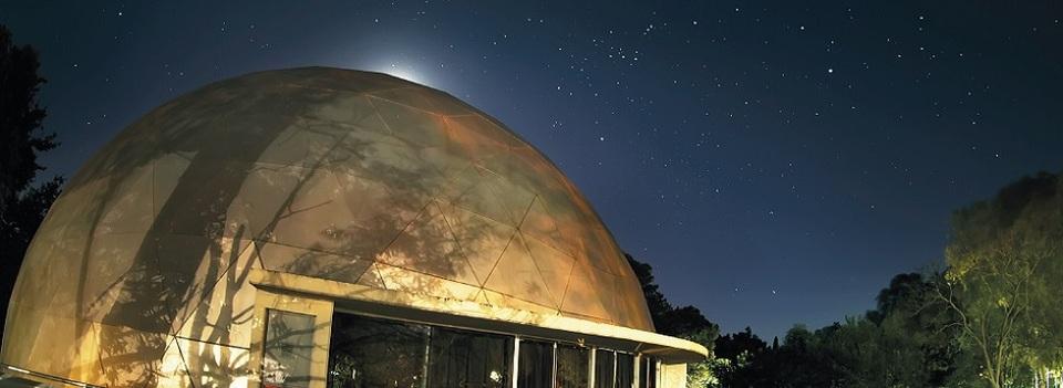 Imagen del Domo y Terraza del Planetario
